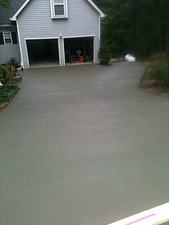 Overdrive north georgia concrete commercial and for Pouring concrete driveway